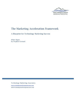 Marketing Acceleration Framework White Paper