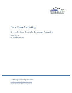 Thumbnail Dark Horse Marketing White Paper