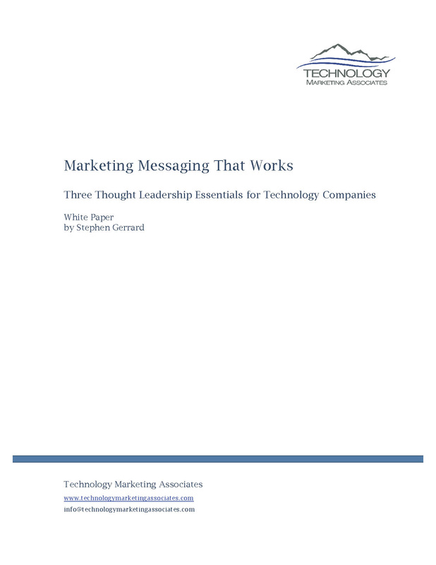 Thumbnail Marketing Messaging that Works White Paper